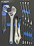 King Tony 991120 MRE Combinación llaves herramientas de espuma EVA y PP, juego de 20