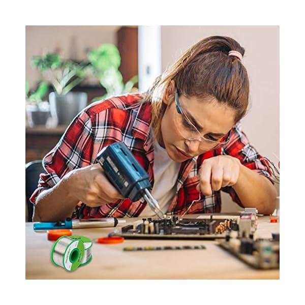 Estaño para Soldar 0.6mm Hilo de Soldadura Electronica Sin Plomo con Núcleo