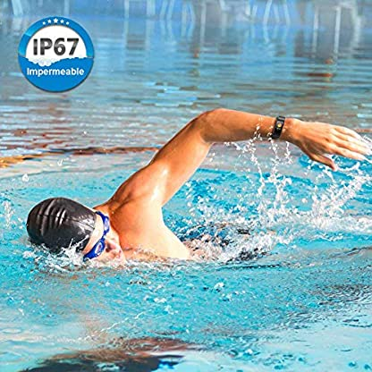 TwobeFit Pulsera Actividad, Pulsera Inteligente Pantalla Color HR con Pulsómetro Pulsera Deportiva y Monitor de Ritmo Cardíaco Monitor de Actividad para Mujer Hombre