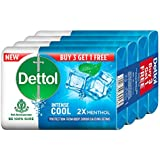 Dettol Cool Germ Protection Bathing Soap bar, 75gm (Pack of 4)