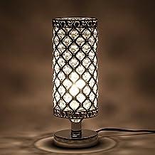 Tomshine Lámpara de Mesa de Cristal E27 Base VDE-listed Decorativo Lámpara de EscritorioPerfecto para Hogar, Dormitorio, Sala de Estar, Cafetería, Aparador