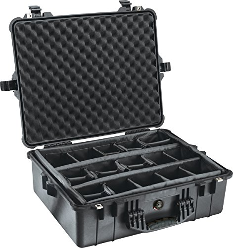 Peli 1600 Case with Padded Dividers (Black)