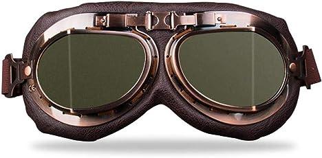 Aolvo Vintage Riding Brillen Pilotenbrille Snowboard Motocross Pilotenbrille Motorradbrille sanddicht Winddicht Scooter Brillen Brille für Riding Sand Racing Wandern