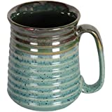 Pottery By Manjari Kanoi Ceramic Beer Mug, 1-Piece, 750 Ml, Blue