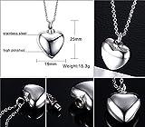 Vnox Edelstahl Aufbewahrungs Memorial Einäscherung Urn Herz Charm Ash hängende Halskette,freies Gravieren,mit 50cm Kette - 6