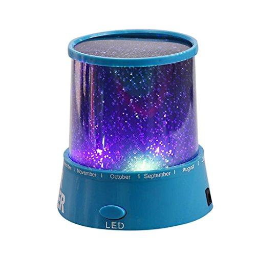 Hansee Proyector de DLP, Romantic colorido Cosmos Star Master LED proyector lámpara...
