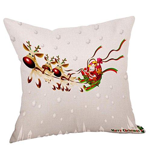 Jamicy 4pc Natale stampa divano letto casa cuscino decorativo custodia cuscino C