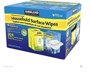 Kirkland Lot de 3 paquets de lingettes nettoyantes et désinfectantes Tuent 99,9% des germes et bactéries