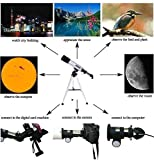 Impressive Land & Sky Telescope - Optical Glass & Metal Tube Refractor Telescope (90X Power)