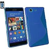 Emartbuy® Sony Xperia Z3 Compact Ultra Slim Gel Hülle Schutzhülle Case Cover Blau