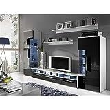 JUSThome ROMO Muebles de salón comedor Color: Blanco Mat / Negro Brillante