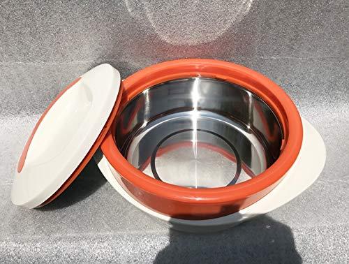 Schulz-Haushaltwaren XXL 4 l 4,0 Liter Thermobehälter Thermoschüssel Isolierschüssel Isolierbehälter Thermogeschirr Heiß & Kalt ca 6 Stunden