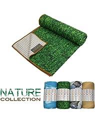 Yogabum Naturaleza Coleccion Antideslizante Yoga Mat Toallas (Césped)