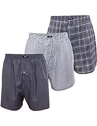 Herren Web-Boxershorts,3 Pack,Baumwolle,Softbund