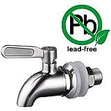 """KES Dispensadores de Agua Llave de Recambio 5/8"""" ó 16mm, SUS 304 Acero Inoxidable, Pulido, K1060"""