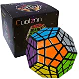 Coolzon® Megaminx Dodecahedron Magic Cube Special Brain Teasers Puzzle Toy, Black