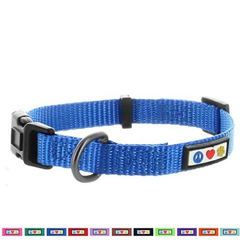 PAWTITAS stabiles Welpen-Halsband Haustier-Halsband einfaches Hunde-Halsband Große Hunde-Halsband Blau Hunde-Halsband