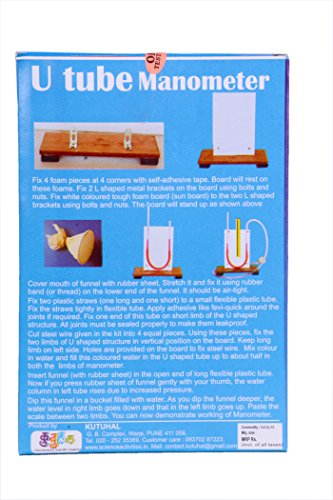 Kutuhal u tube manometer do it yourself science project kit best kutuhal u tube manometer do it yourself science project kit solutioingenieria Gallery