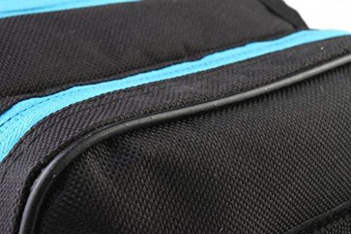 Tofern Fahrrad Radfahren Rahmentasche Steuerrohr Tasche Beutel Satteltasche - 1.5L, 8 Farben Schwarz & Blau
