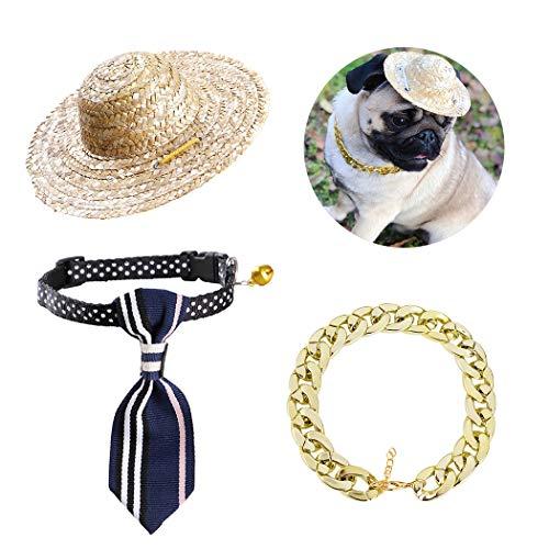 Legendog Haustier-Sonnenbrille-Art- und Weisekreative Anti-UVkatzen-Sonnenbrille mit Kragen u. Halskette