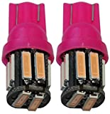 Aerzetix - 2 X LED - Birne Lampen T10 W5W 12V 10LED SMD Rosalicht für Innenbeleuchtung, Tuerschwellen, Kofferraeume, Registrationstabellen,Antriebsraeume, Plafonds, Lampe zum Lesen von Karten