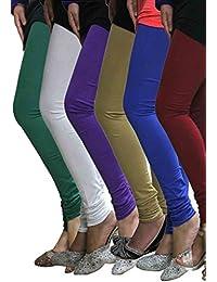 Pack of 6 Cotton Lycra Leggings Combo