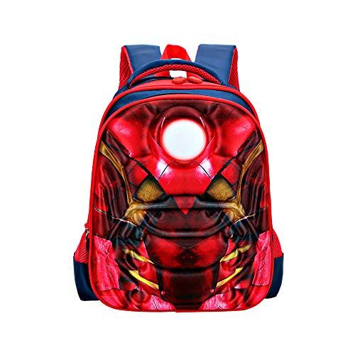 Spiderman Schultasche für Kinder Kindergarten-Schultasche Rucksack Mode Ultraleicht Freizeit Junge Mädchen Rucksack für Outdoor Sports Camping Picknick Rucksäcke 1-6 Grade (2)