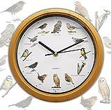 PMS BIRD SONG WALL CLOCK IN COLOUR BOX