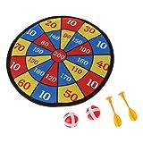 Manyo - Gioco delle freccette in tessuto, per bambini, con pallina, bersaglio, giocattolo sicuro