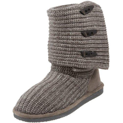 Knit Tall Boots (Bearpaw Damen Knit Tall Schlupfstiefel, Grau (Gray II 055), 41 EU)