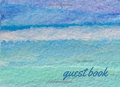 Waterfront Cottage (Guest Book: Lined Guestbook With Prompts - For the Beach House, Vacation Home, B&B, Guest Room, Waterfront Condo, or Cottage Rental - Aqua Blue Ocean Waves Cover Design)