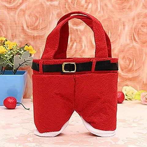 + ING rot Nylon Santa Hose candy Beutel Geschenk für