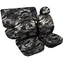 Lupex Shop trap_Mch - Fundas para asientos de coche, acolchadas, diseño de camuflaje claro (6 unidades)