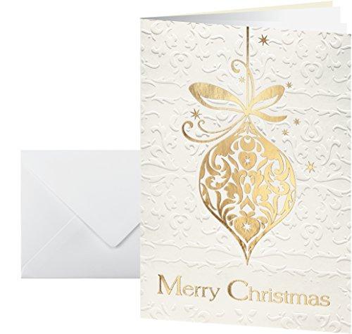 Sigel ds049 biglietti di auguri natalizi con buste, formato a6, motivo: golden fantasy, confezione da 10, impressione oro/incolore