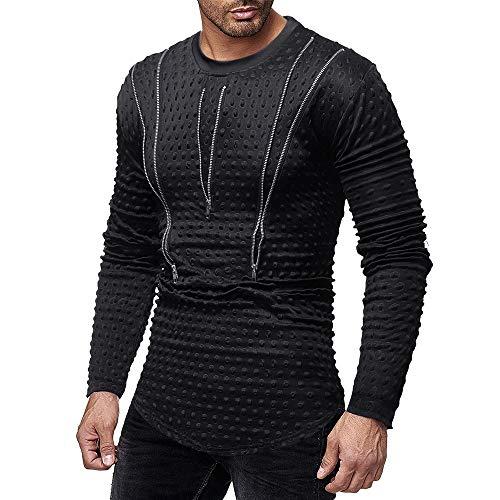 Sudadera con Capucha para Hombre,BBestseller Camiseta de Manga Larga Casual  de otoño Invierno de 790c9b419792