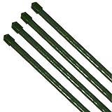 10x Pflanzstab Pflanzenstab Pflanzstäbe grün  11 x 900 mm