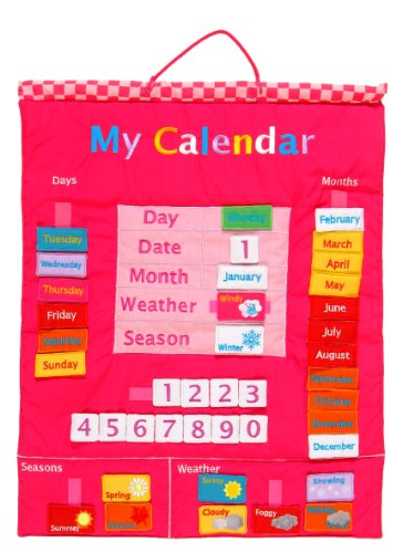 My Calendar W-0124P - Calendario de pared, color rosa [texto en inglés]