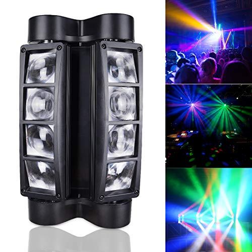 BETOPPER Spider Spot Moving Head Licht LED DJ Beleuchtung RGBW 8x3W DMX512 Bühnenlicht Mini Spider Lights für DJ Disco Party Lights Restaurant Live Konzert Beleuchtung