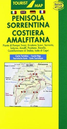 Penisola sorrentina. Costiera amalfitana 1:50.000. Con guida turistica (Carte turistiche)