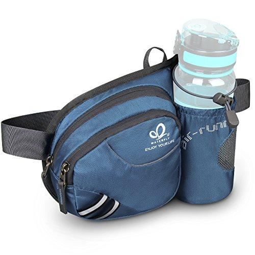 WATERFLY Taille Tasche mit Flaschenhalter, atmungsaktiv Hüfttasche mit Reflektorstreifen für iPhone 6 / 6s Plus / 7 Plus für Laufen Radfahren Camping Klettern Reisen