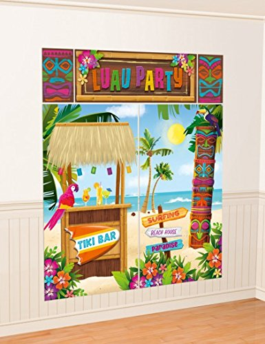 Amscan Tiki - Decorazioni da parete, Tiki bar e spiaggia caraibica