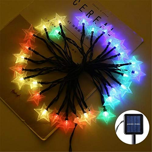 LHY LIGHT Solar Lichterkette LED Outdoor Garden Star Solar Beleuchtung 8 Modi Weihnachten Home Decoration Solar Power Lampe,redlight,6m30lights (Arbeit Geeignete Halloween)
