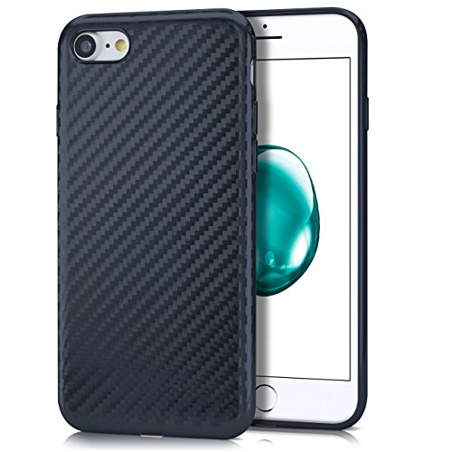 iPhone 6S Hülle Rosé-Gold Karbon Optik [OneFlow Pulse Back-Cover] Schutzhülle Ultra-Slim Silikon Handy-Hülle für iPhone 6/6S Case Carbon Silikonhülle Tasche CARBON-SMOKE