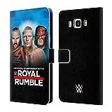 Head Case Designs Offizielle WWE Braun, Brock & Kane 2018 Royal Rumble Brieftasche Handyhülle aus Leder für Samsung Galaxy J7 (2016)