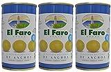El Faro - Spanischen Oliven mit Sardellen gefüllt 150 gr.