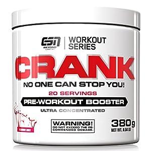 ESN Crank – Pre Workout Booster – Tropical Punch – 1er Pack (1 x 380g)