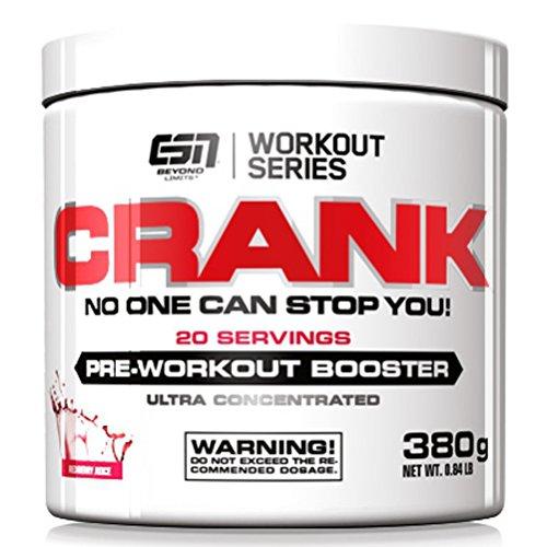 ESN Crank - Pre Workout Booster - Fresh Berry Juice - 1er Pack (1 x 380g)