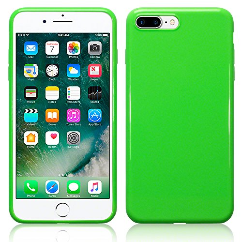 Coque iPhone 8 Plus / iPhone 7 Plus, Terrapin Étui Coque en Gel TPU pour iPhone 8 Plus Case - Clear Solide Vert