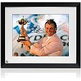 Darren Clarke Firmado fotografía enmarcada: héroe de la Ryder Cup