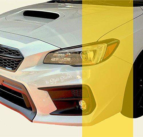 Scheinwerferfolie GELB 200cm x 30cm NEW Folie Gelbe Nebler Auto Scheinwerfer yellow vinyl google Tuning NEW LOOK